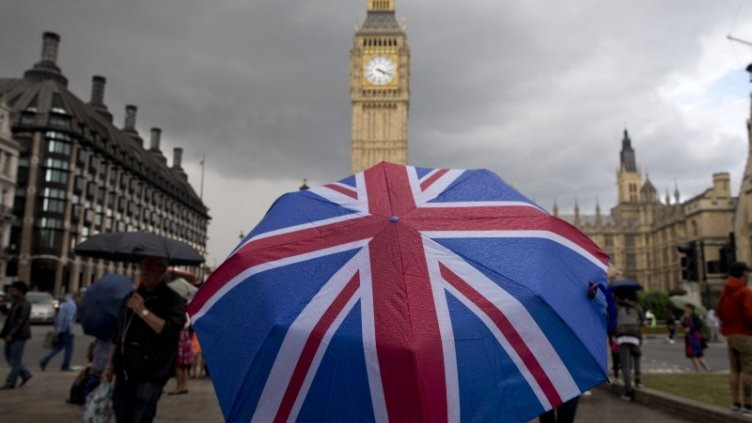 Brexit Flag on Umbrella