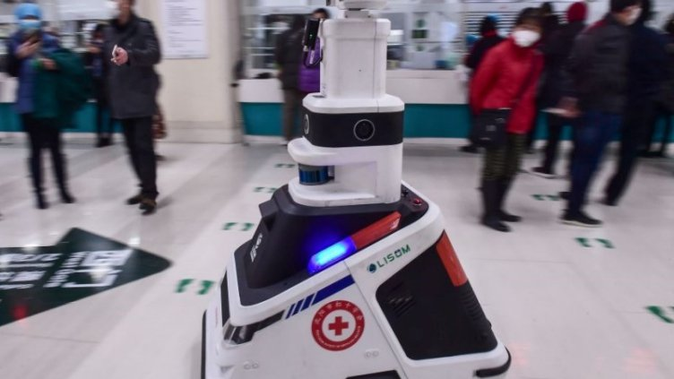 Robots helping in china