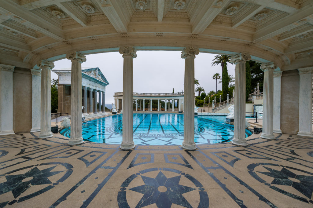 California, USA, 09 Jun 2013: Grand, luxurious swimming pool in Hearst Castle.; Shutterstock ID 408784075
