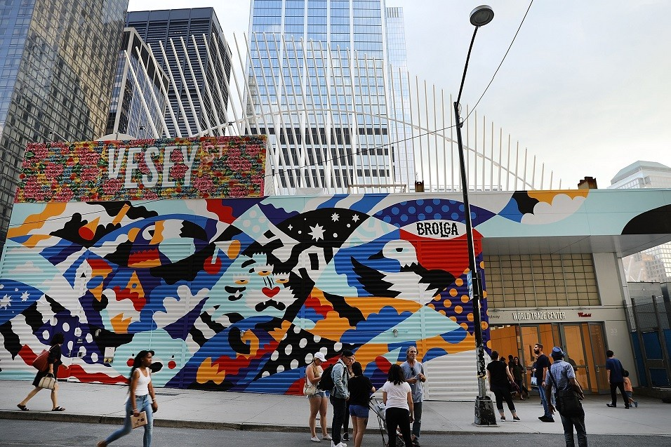 A mural commissioned near the World Trade Center